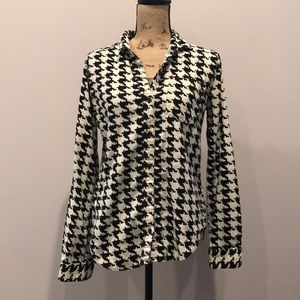 BDG Urban Outfitters houndstooth button up flannel
